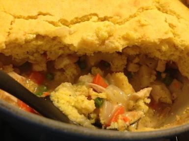 Chicken Pot Pie with Cornbread