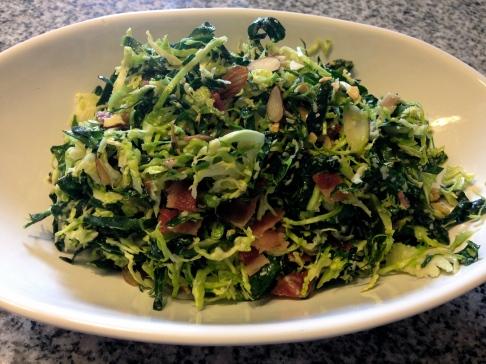 Kale & Shaved Brussels Salad